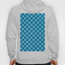 Checker Game:  Sky Blue and Royal Blue Hoody