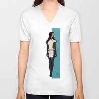 monet V-neck T-shirts featuring Monet by Andrew Formosa