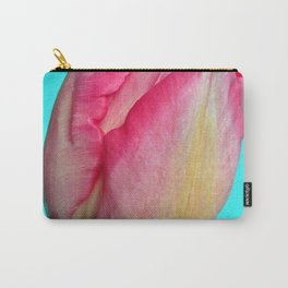 Blushing Pink Sun-kissed Tulip Carry-All Pouch