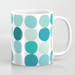 Midcentury Modern Dots Blue Coffee Mug
