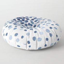 Explosion of Blue Confetti Floor Pillow