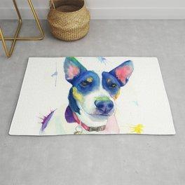 "Jack Russell Terrier Watercolour ""Charlie"" Rug"