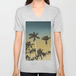 Palms and clear skies Unisex V-Neck