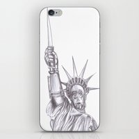 c3po iPhone & iPod Skins featuring C3PO Liberty by ronnie mcneil
