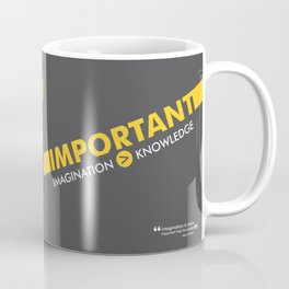 Lab No. 4 - Albert Einstein Typography Print Inspirational Quotes Poster Coffee Mug