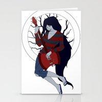 marceline Stationery Cards featuring Marceline by Crista Gerzevske