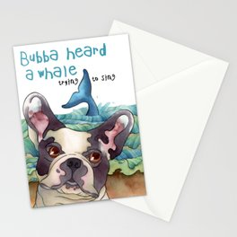 Bubba Heard a Whale Stationery Cards