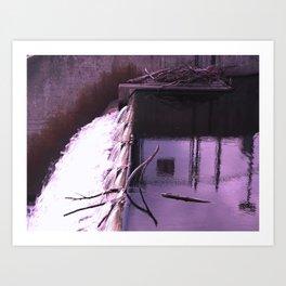 the waterfall of breslau Art Print