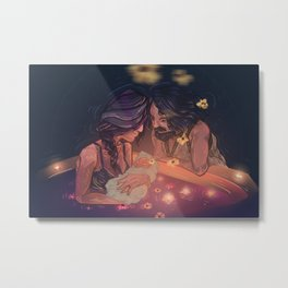 Digital Illustration painting Home birth on water Metal Print