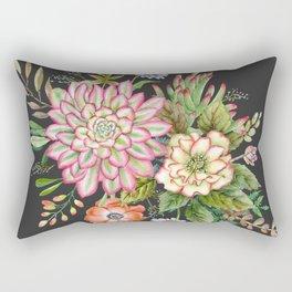 Watercolor succulents #61 Rectangular Pillow