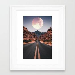 Mooned Framed Art Print
