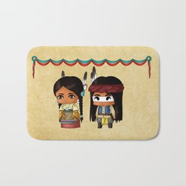 American Indian Chibis Bath Mat