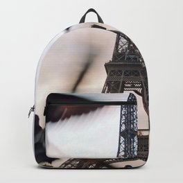Paris Eiffel tower and flight of birds Backpack