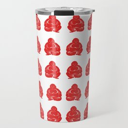 Red Asian Moods Buddha Boys Travel Mug