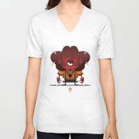 leo V-neck T-shirts featuring LEO by Angelo Cerantola