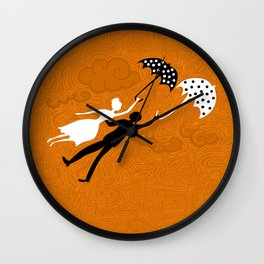I love you let's fly Wall Clock