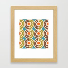 Mid Century Modern Solar Flares Pattern Framed Art Print