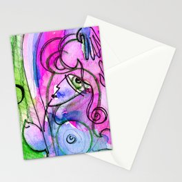 Abstract Nude Goddess No. 40E by Kathy Morton Stanion Stationery Cards