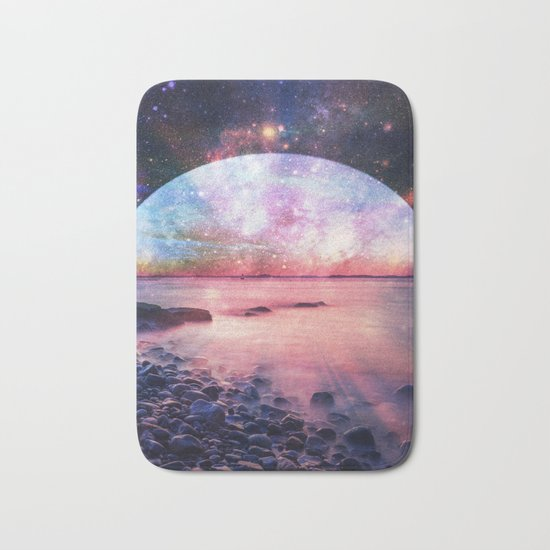 Mystic Lake : Fantasy Moon Landscape Bath Mat