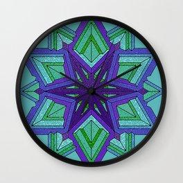 Star Violets Wall Clock