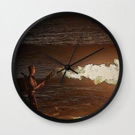 Set the night on fire Wall Clock