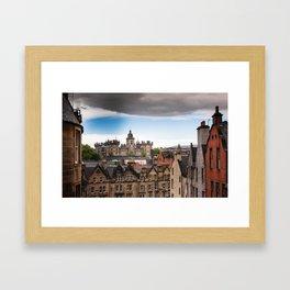 View of Edinburgh architecture from Victoria Street Framed Art Print