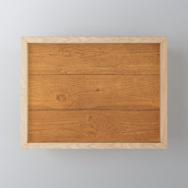 The Cabin Vintage Wood Grain Design Framed Mini Art Print