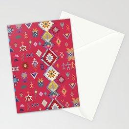 KILIM NO.1 IN DESERT MAGENTA Stationery Cards