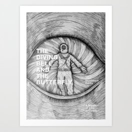 The Diving Bell and The Butterfly Art Print