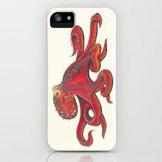 Red Octopus Slim Case iPhone (5, 5s)
