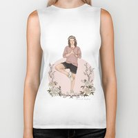 coconutwishes Biker Tanks featuring Peaceful by Coconut Wishes