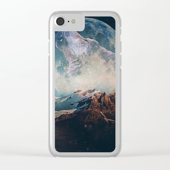 Lake Moon Clear iPhone Case