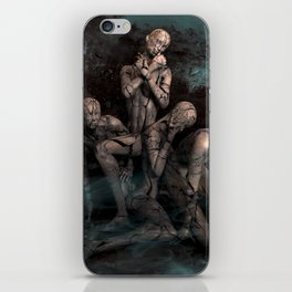 Abtract Dark Emotion Of Human iPhone Skin