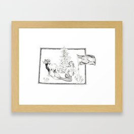 Colorado Mermaid Framed Art Print