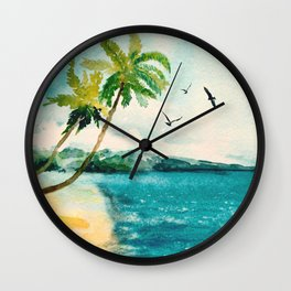 Palm Trees 1 Wall Clock