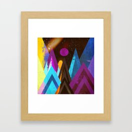 Space Mountains Framed Art Print