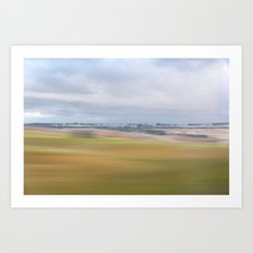 View from Train: Colours 2 Art Print