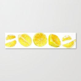 Lemon Slices Graphic Design Canvas Print