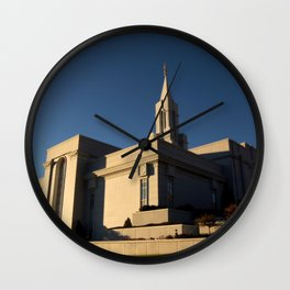 LDS Bountiful Utah Temple Wall Clock