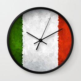 Fancy Flag: Italy Wall Clock