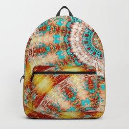 Southwestern Turquoise Orange Mandala Backpack