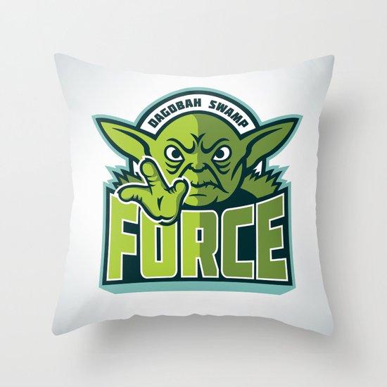 Dagobah Swamp Force Throw Pillow