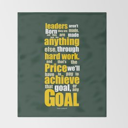 Lab No. 4 - Vince Lombardi Sport Inspirational Quotes Typography Poster Throw Blanket