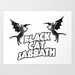 CAT SABBATH Art Print