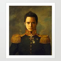 replaceface Art Prints featuring Elijah Wood - replaceface by replaceface