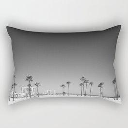 Palm Tree Beach Rectangular Pillow