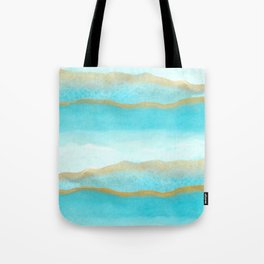 Gold and blue sea Tote Bag