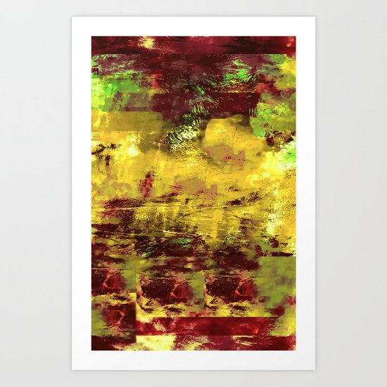 Vintage Abstract Colours for IPhone Art Print