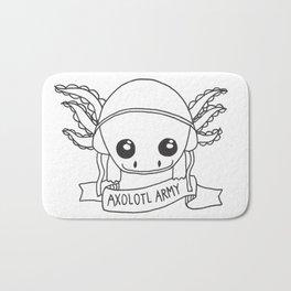 Axolotl Army Line Work Bath Mat