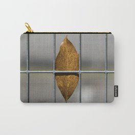autumn leaf on gate background Carry-All Pouch